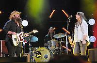 10 June 2016 - Nashville, Tennessee - Chris Stapleton, Morgane Stapleton. 2016 CMA Music Festival Nightly Concert held at Nissan Stadium. Photo Credit: Dara-Michelle Farr/AdMedia