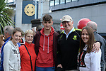 17-1-2017: Frank, Eileen,David, Allison and Emily Shaw from Killarney at the All-Ireland Football final at Croke Park on Sunday.<br /> Photo: Don MacMonagle