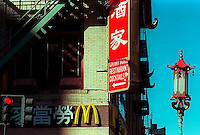 Signs in Chinatown, 1987./  &amp;#xA;<br />