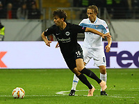 Lucas Torro (Eintracht Frankfurt) gegen Lucas Leiva (Lazio Rom) - 04.10.2018: Eintracht Frankfurt vs. Lazio Rom, UEFA Europa League 2. Spieltag, Commerzbank Arena, DISCLAIMER: DFL regulations prohibit any use of photographs as image sequences and/or quasi-video.