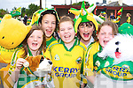 Laura Prendergast, Emer Corcoran, Sarah Redmond Lisa Murphy and Diana O'Keeffe from Castledrum NS showing their support for the Kerry team at the school on Tuesday   Copyright Kerry's Eye 2008
