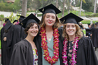 (Photo by Allen Li, Occidental College class of 2020)<br /> <br /> Families, friends, faculty, staff and distinguished guests celebrate the class of 2018 during Occidental College's 136th Commencement ceremony on Sunday, May 20, 2018 in the Remsen Bird Hillside Theater.<br /> <br /> (Photo by Allen Li, Occidental College class of 2020)