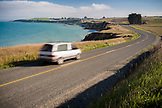 NEW ZEALAND, Oamaru, Driving on an Open Road on the Caost near Oamaru, Ben M Thomas