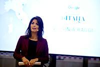 Roma, 1 Dicembre 2017<br /> Virginia Raggi<br /> Macro Testaccio<br /> Mostra google grand tour d'Italia