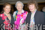 COLOURFUL: Joan O'Shaughennessy, Patsy Quirke and Mary Barton (Tralee) looking good at the Sliabh Luachra Active Rtd Tea Dance and Lunch in Ballygarry House Hotel & Spa,Tralee on Sunday