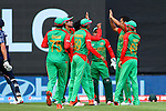 Bangladesh celebrate taking Calum McLeod's wicket. ICC Cricket World Cup 2015, Bangladesh v Scotland, 5 March 2015,  Saxton Oval, Nelson, New Zealand, <br /> Photo: Marc Palmano/shuttersport.co.nz
