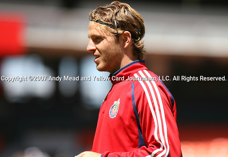 06 May 2007: Chivas USA's Laurent Merlin (FRA).  DC United defeated CD Chivas USA 2-1 at RFK Stadium in Washington, DC in a Major League Soccer 2007 regular season game.