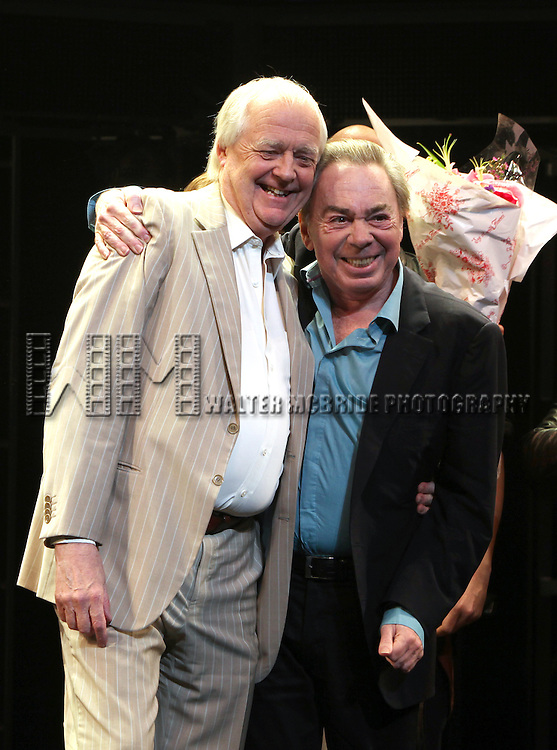 Andrew Lloyd Webber & Tim Rice.during the Opening Night Performance Curtain Call for 'Jesus Christ Superstar' at the Neil Simon Theatre in New York City on March 22, 2012.