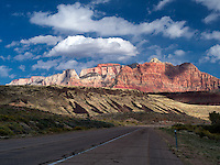 Road into Zion National Park, Utah