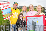 PROTEST: Some of the residents of Fenit at the start Community Protest March on Sunday l-r: Robert and Leah Browne, Jennifer Stack, Michelle Burke and Bride Brassil.