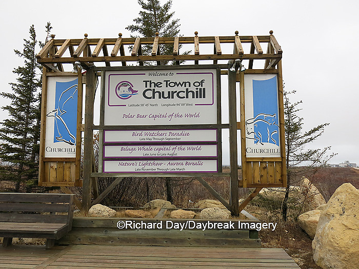 60595-01118 Town of Churchill Sign, Churchill, MB Canada