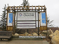 60595-01118 Town of Churchill Sign, Churchill, MB Canada