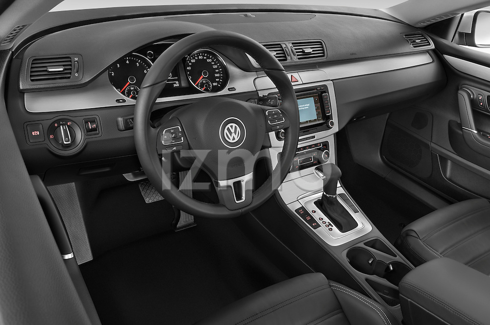 High angle dashboard view of a  2009 volkswagen cc luxary