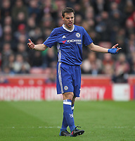 Chelsea's Cesar Azpilicueta<br /> <br /> Photographer Mick Walker/CameraSport<br /> <br /> The Premier League - Stoke City v Chelsea - Saturday 18th March 2017 - bet365 Stadium - Stoke<br /> <br /> World Copyright &copy; 2017 CameraSport. All rights reserved. 43 Linden Ave. Countesthorpe. Leicester. England. LE8 5PG - Tel: +44 (0) 116 277 4147 - admin@camerasport.com - www.camerasport.com