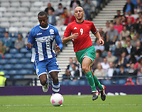Men's Olympic Football match Honduras v Morocco on 26.7.12...During the Honduras v Morocco Men's Olympic Football match at Hampden Park, Glasgow...Picture John Millar / ProLens PhotoAgency / PLPA.Thursday 26th July 2012...............
