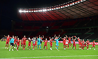 04.07.2020, Fussball DFB Pokal Finale, Bayer 04 Leverkusen - FC Bayern Muenchen emspor, v.l. Bayerns Spieler jubeln / jubelt nach Spielende / celebrate at the end of the match.  Manuel Neuer (FC Bayern Muenchen) und Team <br /> <br /> Foto: Kevin Voigt/Jan Huebner/Pool/Marc Schueler/Sportpics.de<br /> <br /> (DFL/DFB REGULATIONS PROHIBIT ANY USE OF PHOTOGRAPHS as IMAGE SEQUENCES and/or QUASI-VIDEO - Editorial Use ONLY, National and International News Agencies OUT)