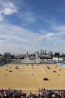 PICTURE BY ALEX BROADWAY /SWPIX.COM - 2012 London Paralympic Games - Day Two - Equestrian - Greenwich Park, London, England - 31/08/12 - GV. General View of competition arena.
