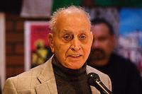 Dr Khalid Majid speaking at the Memorial Meeting honouring Godfrey Cremer's life, Saklatvala Hall, Southall, 12th May 2012
