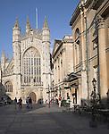 Bath Abbey and Abbey churchyard Bath, England