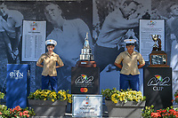 The Honor Guard stands watch over the trophy for winning the Arnold Palmer Invitational at Bay Hill Golf Club, Bay Hill, Florida. 3/7/2019.<br /> Picture: Golffile | Ken Murray<br /> <br /> <br /> All photo usage must carry mandatory copyright credit (© Golffile | Ken Murray)