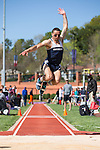 Joey Marini of the Monmouth Hawks competes in the men's triple jump on Day Two of the VertKlasse Meeting at Vert Stadium on the campus of High Point University on April 2, 2016 in High Point, North Carolina.  (Brian Westerholt/Sports On Film)