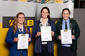 Water Polo Girls finalists Lisa Tuke, Danielle Lewis and Gabrielle Crothall. ASB College Sport Young Sportsperson of the Year Awards held at Eden Park, Auckland, on November 11th 2010.