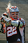 24 August 2008: Denver Outlaws' Attackman Ryan Powell warms up prior to facing the Rochester Rattlers at the Championship Game of the Major League Lacrosse Championship Weekend at Harvard Stadium in Boston, MA. The Rattles took control of the second half and defeated the Outlaws 16-6 to take the league honor for the 2008 season...Mandatory Photo Credit: Ed Wolfstein Photo