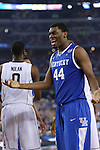 UK center Dakari Johnson (44) reacts to a call during the NCAA Championship vs. UConn at the AT&T Stadium in Arlington, Tx., on Monday, April 7, 2014. Photo by Emily Wuetcher | Staff