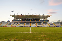 20190227 - LARNACA , CYPRUS : Antonis Papadopoulos Stadium in Larnaca , Cyprus . Venue during the Cyprus Womens Cup 2019 , a prestigious women soccer tournament as a preparation on the FIFA Women's World Cup 2019 in France and the Uefa Women's Euro 2021 qualification duels. PHOTO SPORTPIX.BE | STIJN AUDOOREN