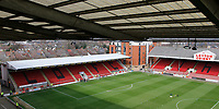 A general view from the gantry of the stadium prior to the Sky Bet League 2 match between Leyton Orient and Grimsby Town at the Matchroom Stadium, London, England on 11 March 2017. Photo by Carlton Myrie / PRiME Media Images.