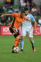Melbourne, 3 December 2016 - DIMITRI PETRATOS (23) of Brisbane Roar controls the ball in the round 9 match of the A-League between Melbourne City and Brisbane Roar at AAMI Park, Melbourne, Australia. Melbourne drew with Brisbane 1-1 (Photo Sydney Low / sydlow.com)