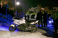 Pictured: The scene where John Macris was shot in Voula, a seaside area near Athens, Greece. Wednesday 31 October 2018<br /> Re: John Macris, a gangster from Sydney Australia, has been shot dead in Greece.<br /> The millionaire nightclub owner, was shot four times in the chest outside his home in the Voula seaside suburb in Athens shortly after 9pm.<br /> The Greek Australian, 46, was in his Smart car, outside his house, when the attack took place.