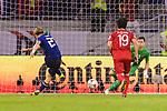 Doan Ritsu of Japan (L) kicks a penalty during the AFC Asian Cup UAE 2019 Quarter Finals match between Vietnam (VIE) and Japan (JPN) at Al Maktoum Stadium on 24 January 2018 in Dubai, United Arab Emirates. Photo by Marcio Rodrigo Machado / Power Sport Images