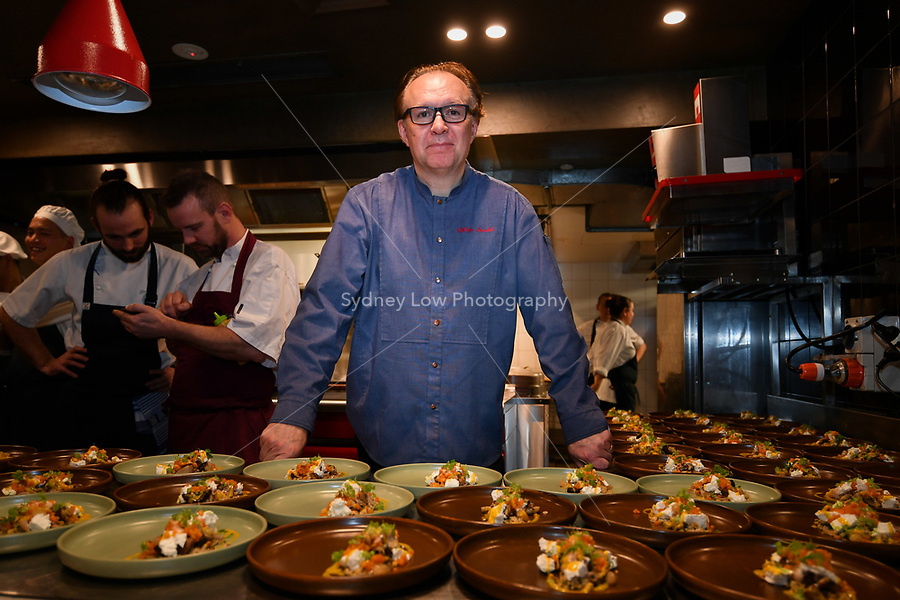 MELBOURNE, 30 June 2017 – Philippe Mouchel poses for a photograph at a dinner celebrating his 25 years in Australia with six chefs who worked with him in the past at Philippe Restaurant in Melbourne, Australia.