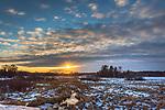 Sunset at Crex Meadows State Wildlife Area in northwestern Wisconsin.