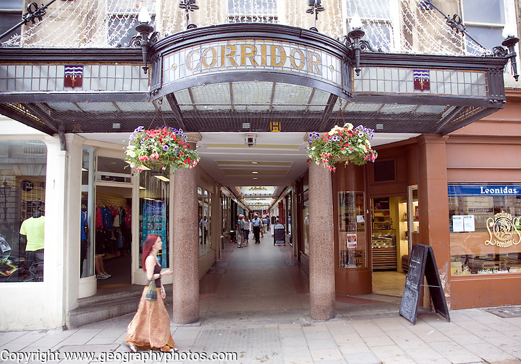 The Corridor shopping arcade, Bath, England built in 1825