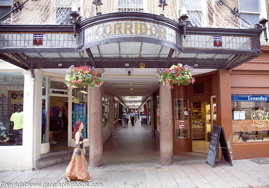 The Corridor shopping arcade, Bath, England built in 1825