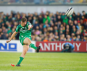 9th September 2017, Galway Sportsground, Galway, Ireland; Guinness Pro14 Rugby, Connacht versus Southern Kings; Jack Carty with a conversion for Connacht
