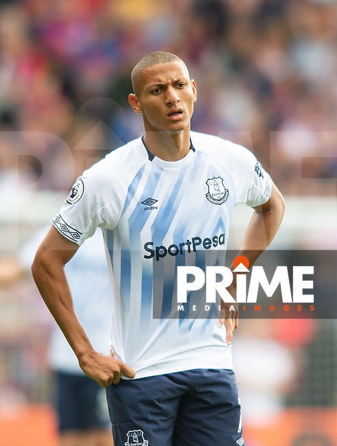 Everton Richarlison during the Premier League match between Crystal Palace and Everton at Selhurst Park, London, England on 10 August 2019. Photo by Andrew Aleksiejczuk / PRiME Media Images.