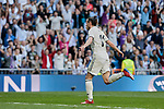 Real Madrid's Gareth Bale celebrates goal during La Liga match between Real Madrid and Real Club Celta de Vigo at Santiago Bernabeu Stadium in Madrid, Spain. March 16, 2019. (ALTERPHOTOS/A. Perez Meca)