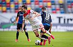 nph00351: Fussball, 1. Bundesliga, Saison 19/20, 26. Spieltag, Fortuna Düsseldorf - FC Paderborn 07, 16.05.2020:<br /> Niko Gießelmann (F95), Dennis Srbeny (SCP)<br />  <br /> <br /> Nur für journalistische Zwecke! Only for editorial use!<br /> <br /> Gemäß den Vorgaben der DFL Deutsche Fußball Liga ist es untersagt, in dem Stadion und/oder vom Spiel angefertigte Fotoaufnahmen in Form von Sequenzbildern und/oder videoähnlichen Fotostrecken zu verwerten bzw. verwerten zu lassen. DFL regulations prohibit any use of photographs as image sequences and/or quasi-video. <br /> <br /> Foto: Moritz Müller/Pool / via Meuter/nordphoto