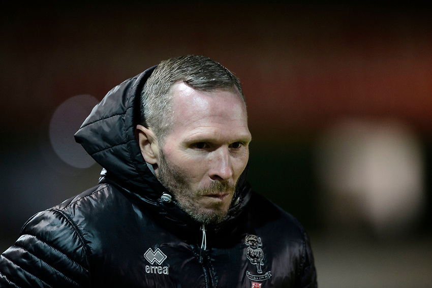Lincoln City manager Michael Appleton<br /> <br /> Photographer Chris Vaughan/CameraSport<br /> <br /> The EFL Sky Bet League One - Lincoln City v Milton Keynes Dons - Tuesday 11th February 2020 - LNER Stadium - Lincoln<br /> <br /> World Copyright © 2020 CameraSport. All rights reserved. 43 Linden Ave. Countesthorpe. Leicester. England. LE8 5PG - Tel: +44 (0) 116 277 4147 - admin@camerasport.com - www.camerasport.com