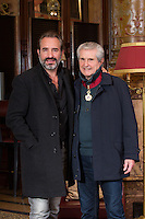 EXCLUSIF : NO WEB, NO BLOG : Jean Dujardin, Claude Lelouch.<br /> Claude Lelouch honor&eacute; pour ses 50 ans de carri&egrave;re, lors de la seconde &eacute;dition du Festival International du Film de Bruxelles, apr&egrave;s avoir re&ccedil;u plus t&ocirc;t dans la journ&eacute;e, l'hommage de la ville par Yvan Mayeur mais aussi la plus haute distinction  distinguant les artistes en devenant Commandeur de l'Ordre Leopold au cours d' une c&eacute;r&eacute;monie officielle au Palais d'Egmont. <br /> Belgique, Bruxelles, 23 novembre 2016.<br /> EXCLUSIVE : NO WEB, NO BLOG :<br /> French director &amp; producer Claude Lelouch is honored for his 50-year career, at the &quot; 2th Edition of the Brussels Film Festival &quot;.<br /> Earlier in the day, Claude Lelouch was awarded ' Commander of the Order '.<br /> Belgium, Brussels, 23 November 2016