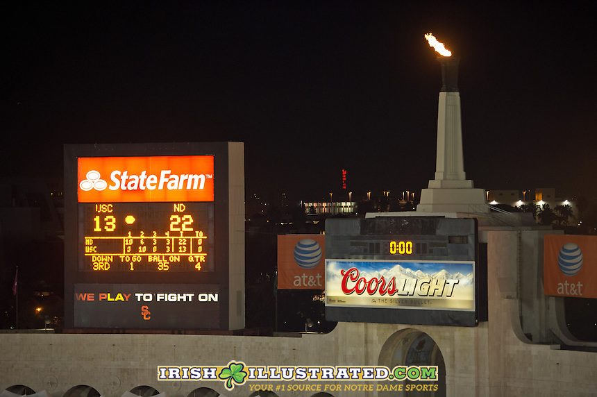 The Irish leave the Los Angeles Memorial Coliseum 12-0 and on their way to the BCS National Championship game.