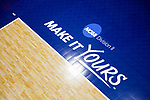 PENSACOLA, FL - DECEMBER 09: The NCAA Division II slogan is imprinted on the court during the Division II Women's Volleyball Championship held at UWF Field House on December 9, 2017 in Pensacola, Florida. (Photo by Timothy Nwachukwu/NCAA Photos via Getty Images)