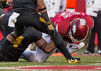 Hawgs Illustrated/BEN GOFF <br /> David Williams, Arkansas running back, scores a touchdown against Missouri in the first quarter Friday, Nov. 24, 2017, at Reynolds Razorback Stadium in Fayetteville.