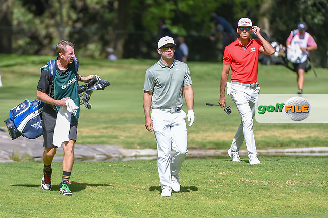 Paul Casey (GBR) and Rafael Cabrera Bello (ESP) approach the green on 6 during round 1 of the World Golf Championships, Mexico, Club De Golf Chapultepec, Mexico City, Mexico. 2/21/2019.<br /> Picture: Golffile | Ken Murray<br /> <br /> <br /> All photo usage must carry mandatory copyright credit (© Golffile | Ken Murray)