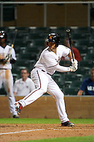 Salt River Rafters outfielder Daniel Palka (40) at bat during an Arizona Fall League game against the Glendale Desert Dogs on October 22, 2015 at Salt River Fields at Talking Stick in Scottsdale, Arizona.  Glendale defeated Salt River 7-5.  (Mike Janes/Four Seam Images)