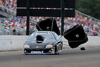Aug. 20, 2011; Brainerd, MN, USA: NHRA pro stock driver Erica Enders during qualifying for the Lucas Oil Nationals at Brainerd International Raceway. Mandatory Credit: Mark J. Rebilas-