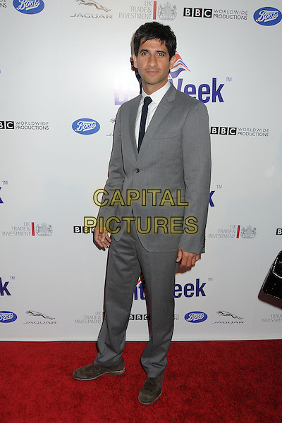 Raza Jaffrey.BritWeek 2012 Official Launch held at a Private Residence, Los Angeles, California, USA..April 24th, 2012.full length grey gray suit.CAP/ADM/BP.©Byron Purvis/AdMedia/Capital Pictures.